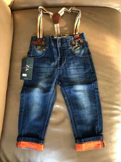 zare boys jeans with free suspender