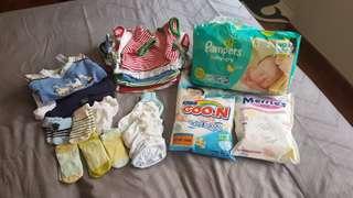 Bundle Sale - rompers, sleepsuits, diaper bag