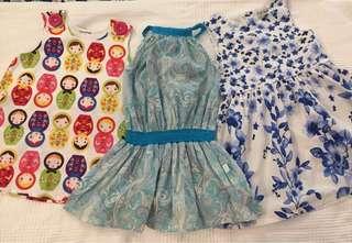4x Girls dresses 2-3yo