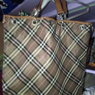 burberry blue label reversible shoulder/hand bag