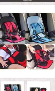 Baby car cushion seat with safety belt