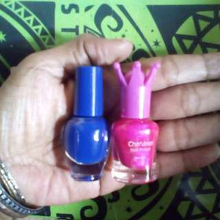 Kutex blue and pink neon take all