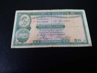 絕版滙豐1983年紙幣