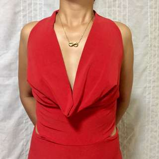 (08) RED LONG GOWN