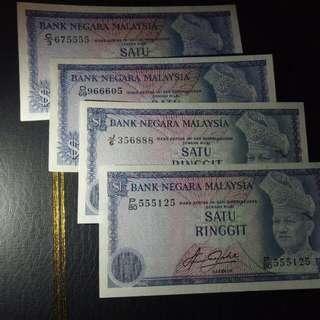 Malaysia $1ringgit 1234代,#美号#