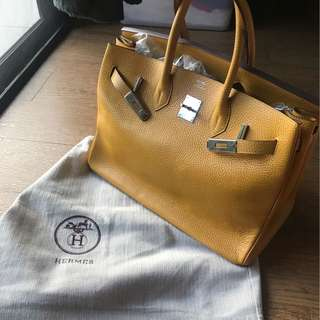 Hermes Birkin Bag Yellow
