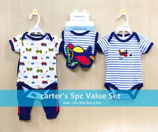CARTER'S 5-PC SET FOR BABY BOY