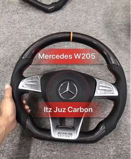 (Sold)Mercedes W205 Carbon steering