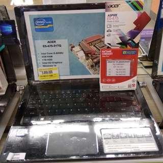 Laptop ACer E5-475 Core I3 (Kredit, Gratis 1x Angsuran)