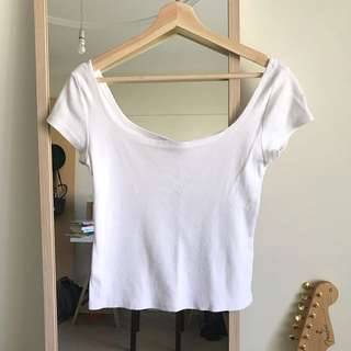 White Zara Crop Top