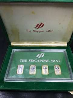 The Singapore Mint Silver Proof Bars