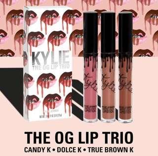 (Authentic Spree) Kylie Cosmetics The OG Lip Trio Po Spree Preorder