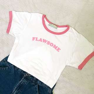 pink ringer statement tee
