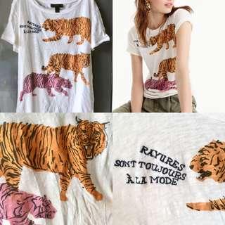 Jcrew tiger t-shirt全新短袖T恤