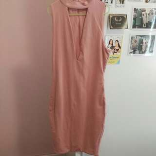 V-neck Pink Bodycon Size 6