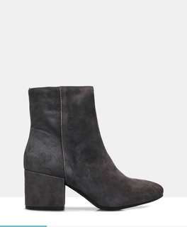 Sempre Di (the Iconic)- Valentina Suede Ankle Boots
