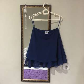 ASOS Dark Blue Chiffon Skirt