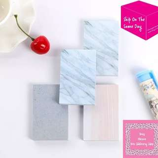 80sheets Pink Marble Texture Memo Pad Sticky Note