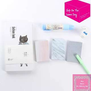80sheets Grey Marble Texture Memo Pad Sticky Note