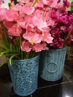 Bunga +vas plastik