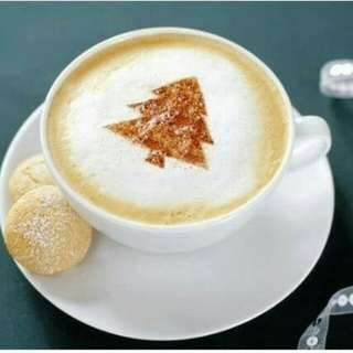 CETAKAN TABUR KOPI SUSU CAPPUCINO COFFEE LATTE MOLD MAKER