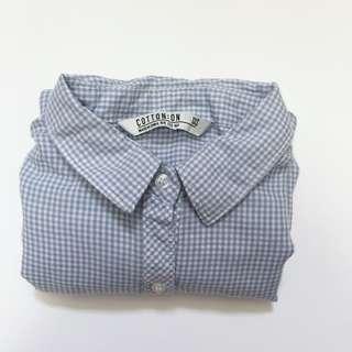 CO gingham shirt
