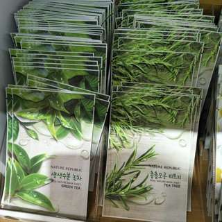 MASKER GREEN TEA & TEA TREE NATURE REPUBLIC