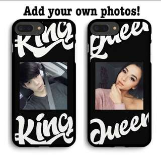 #77 King Queen picturw customizable phone cover