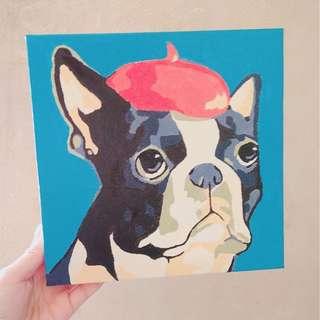🐶(💯DIY) 慈善20*20數字油畫 - 鬥牛犬