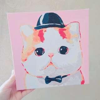🐱(💯DIY) 慈善20*20數字油畫 - 大臉貓