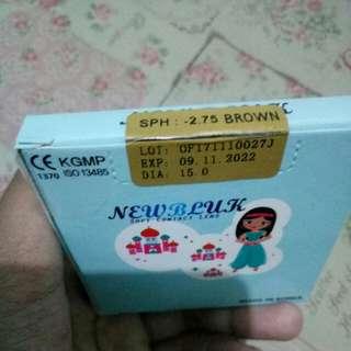 Softlens Newbluk Brown Minus 2.75