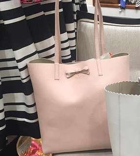 Kate Spade ♠️ Soft Light Pink Leather Totes Bag