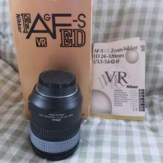 Nikon AF-S 24-120mm F 3.5-5.6G VR Lens