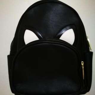 Black Backpack With Eye Design