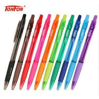 10Colors Retractable Ballpen