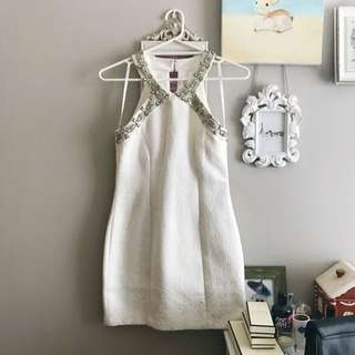Forever New White Party Dress Size 8