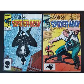 Web of Spider-Man #8 & 9 (1985 1st Series)-Set Of 2, Charles Vess Cover!