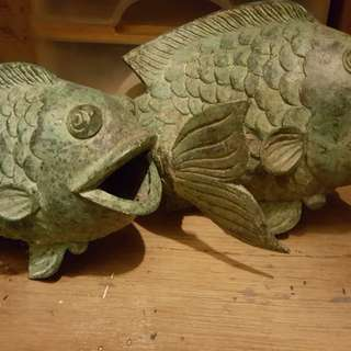 Antique brass fishes