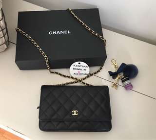 Authentic Chanel Classic WOC GHW
