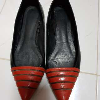 Zoe Ann Pointy Leather Flats