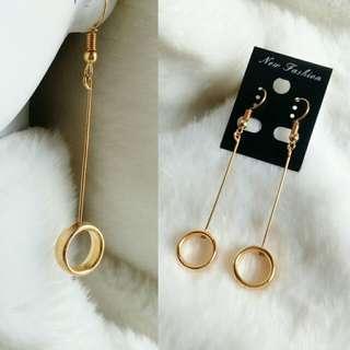 Anting Ring Plastik Gold
