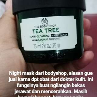 Night Mask from The Body Shop Tea Tree