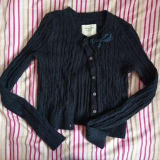 A&F navy blue cardigan