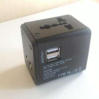 旅行轉插 (雙USB頭)