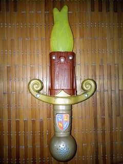 Knight lighting sword