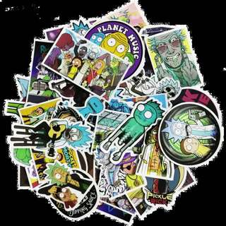 Exclusive Edgy Rick and Morty Stickers 51 Pieces Pack