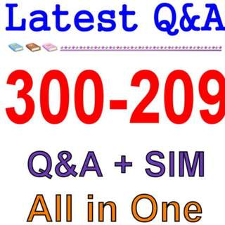 Cisco Best Practice Material For 300-209 Exam Q&A PDF+SIM