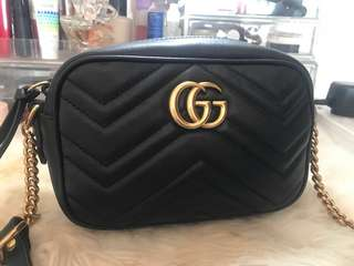 Authentic Gucci Camera Bag in Black Small