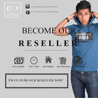 RESELLERS WANTED - MEN'S CLOTHING