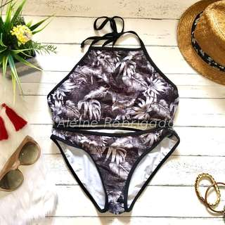 Coco Cabana Halter leafy 2-piece swimsuit